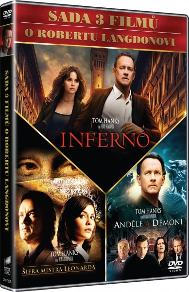 CD Shop - 3 DVD DAN BROWN (INFERNO, ANDěLé A DéMONI, ŠIFRA MISTRA LEONARDA)