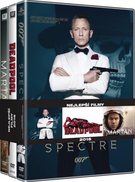 CD Shop - 3DVD NEJLEPší FILMY MUžI (SPECTRE, DEAPOOL, MARťAN)