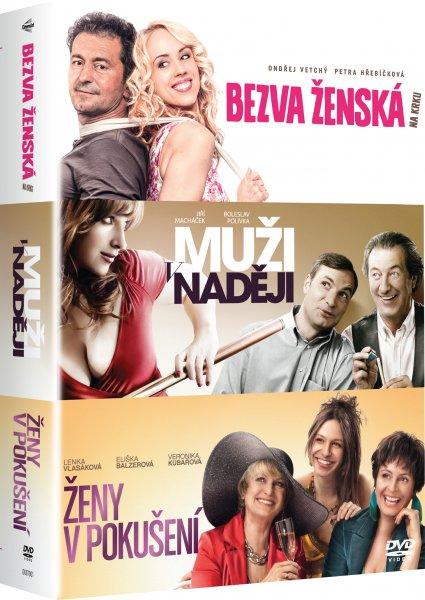 CD Shop - 3 DVD BEZVA žENSKá NA KRKU, MUžI V NADěJI, ŽENY V POKUšENí