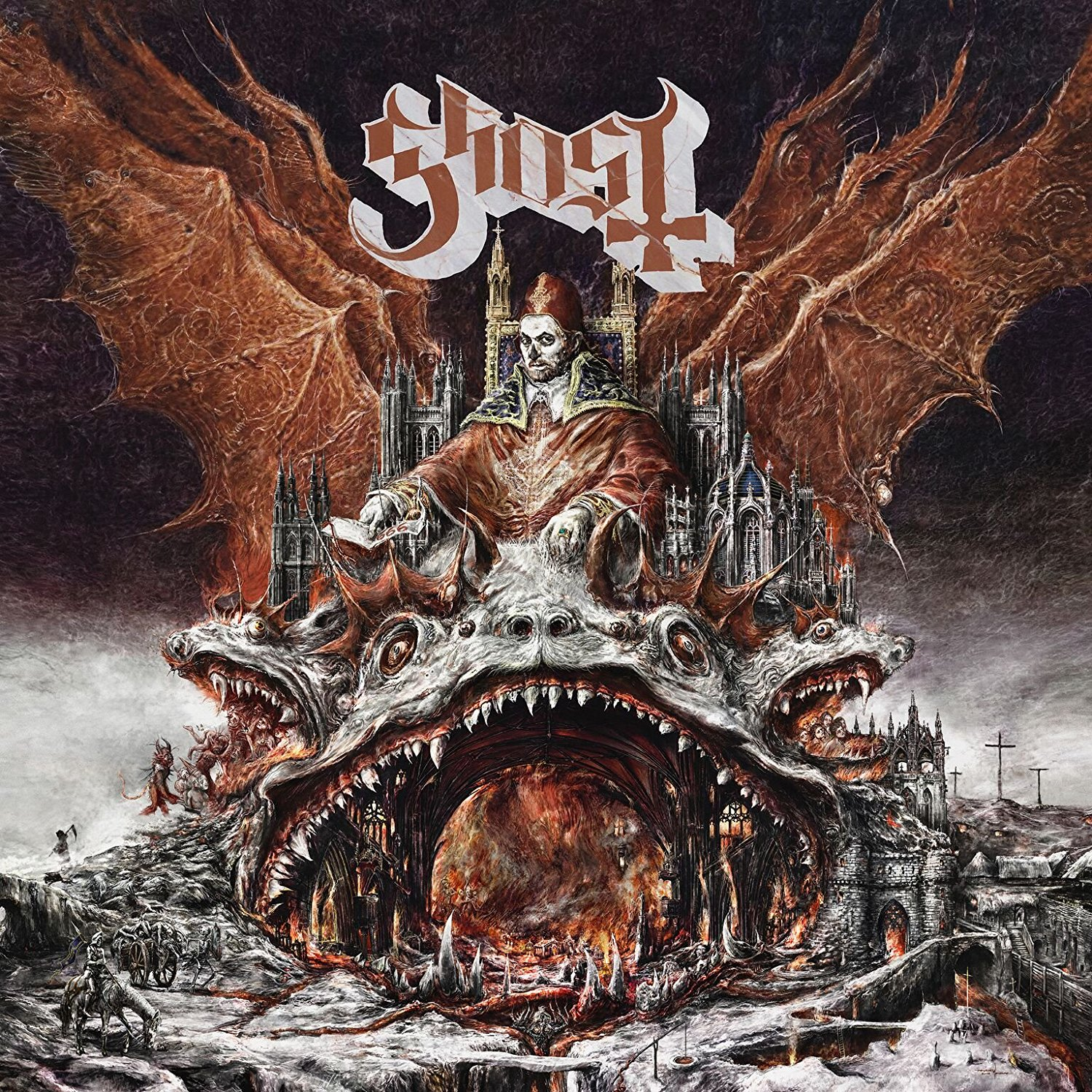 CD Shop - GHOST PREQUELLE/CLEAR&RED LP