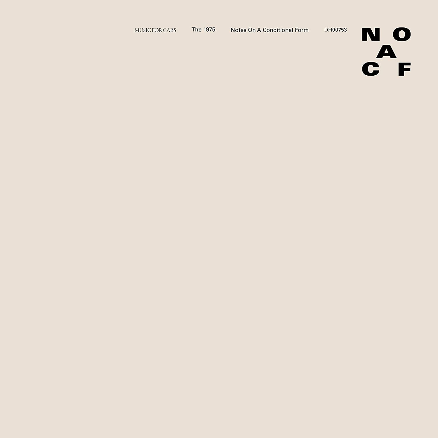 CD Shop - THE 1975 NOTES ON A CONDITIONAL..