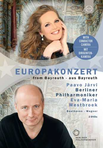 CD Shop - WESTBROEK/BERLINER PHILHARMONIKER/JARVI EUROARTS-BERLINER PHILHARMONIKER-EUROPAKONZERT 2018-FROM THE MARKGRAFLICHES THEATER BAYREUTH - PAAVO JARVI