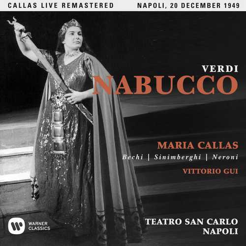 CD Shop - CALLAS, MARIA VERDI: NABUCCO (NAPOLI, 20/12/1949)