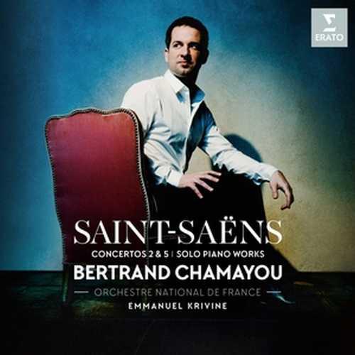 CD Shop - CHAMAYOU/ORCHESTRE NATIONALE DE FRANCE/KRIVINE SAINT-SAENS: PIANO CONCERTOS NOS. 2 & 5, PIECES FOR SOLO PIANO