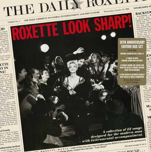 CD Shop - ROXETTE LOOK SHARP! (30TH ANNIVERSARY EDITION BOX SET - 1LP+1CD+1DVD)